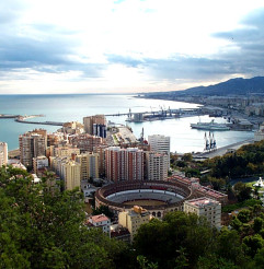 Malaga from the air