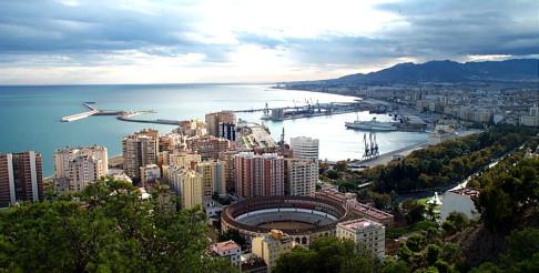 Malaga from the air